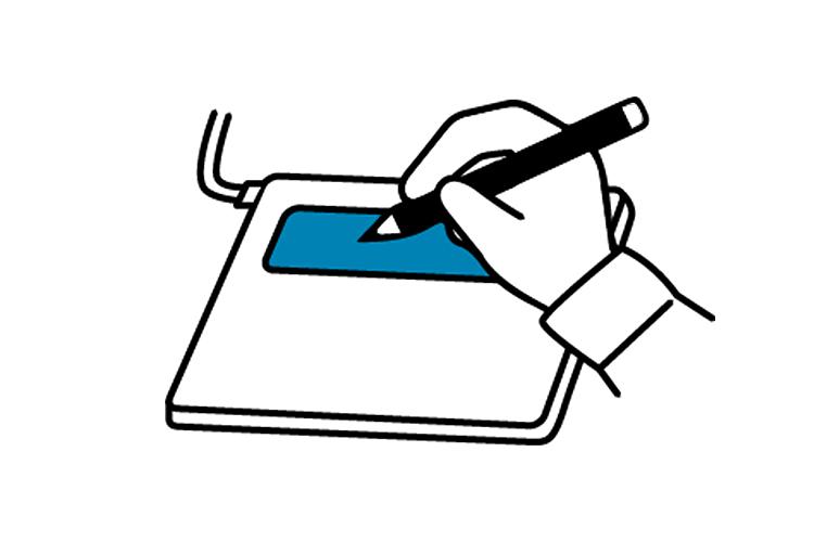 (2)電子サインパッドをご利用の場合